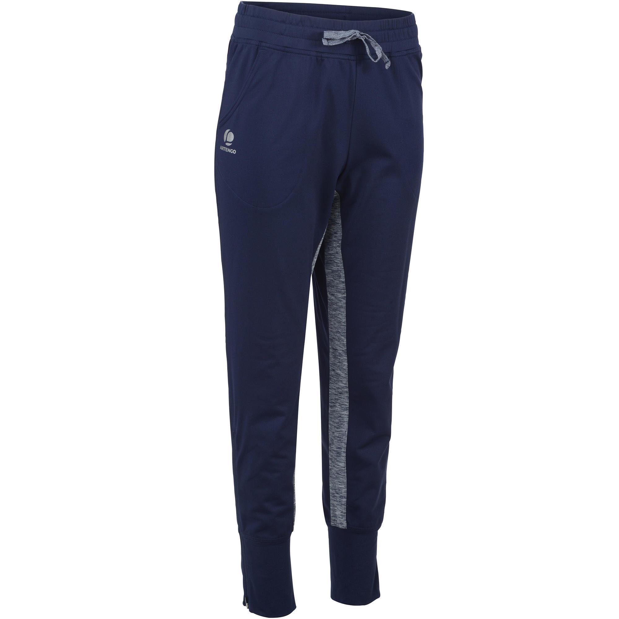 Tennishose Trainingshose Warm 500 Tennis Damen marineblau | Sportbekleidung > Sporthosen > Tennisshorts | Blau | Artengo