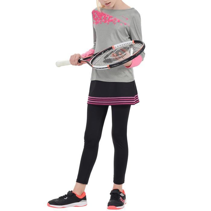 Meisjesrok Thermic 500 tennis badminton zwart