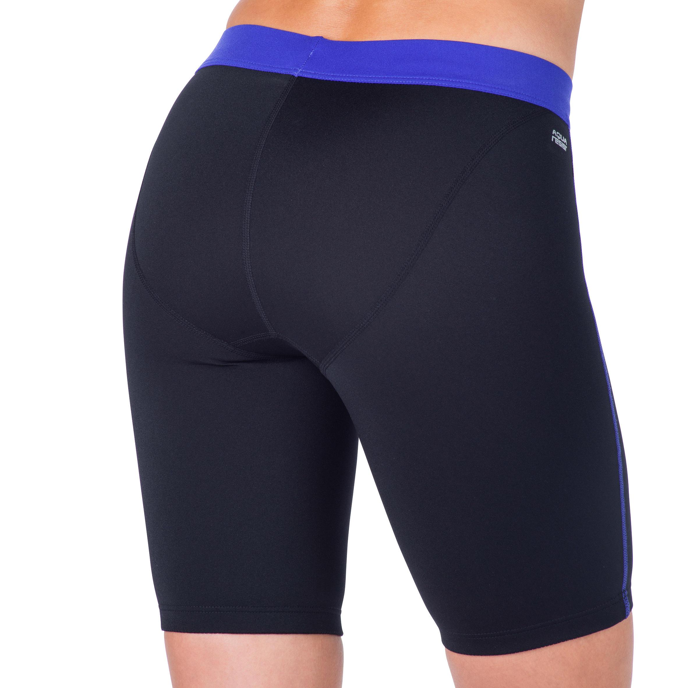 Anna Women's Aquabiking Shorts - Black Blue