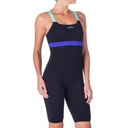 Bañador jammer de aquabike para mujer resistente al cloro Anna negro azul
