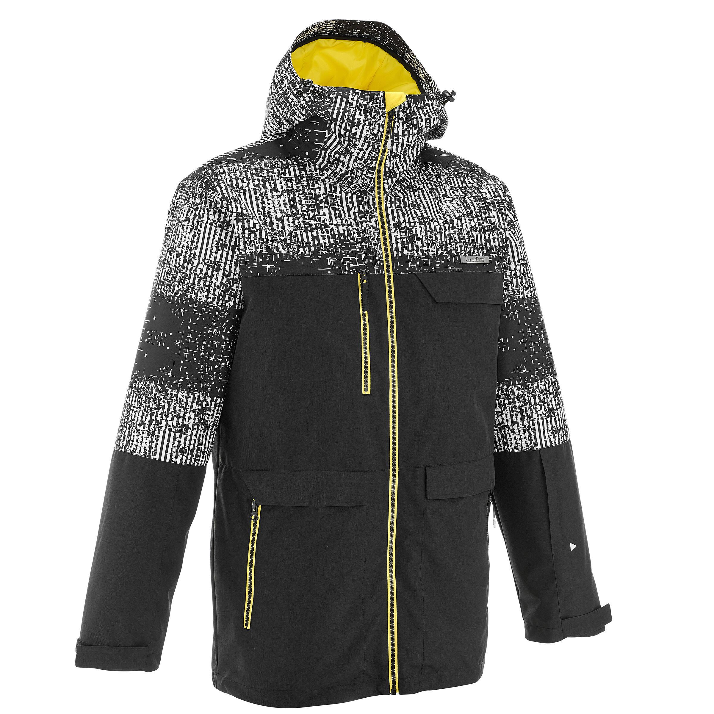 Herren Snowboardjacke SNB JKT 500 Herren Print schwarz | 03608449883306