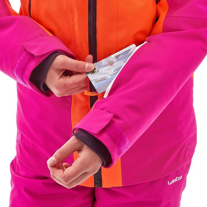 VESTE SKI 700 FILLE ROSE ORANGE FLUO - 1201155