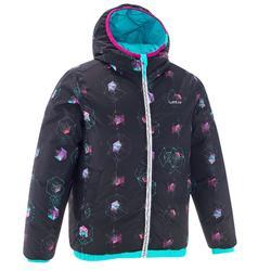 Meisjes ski-jas Warm Reverse turquoise