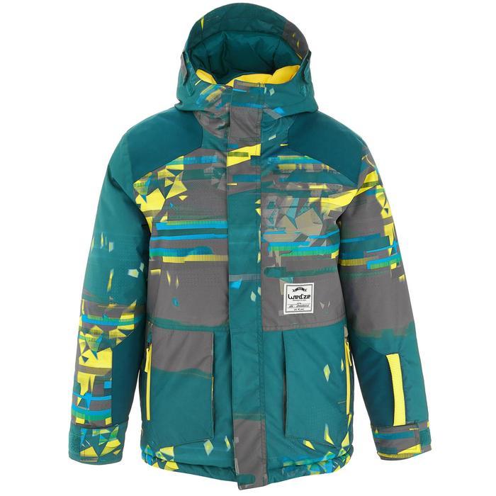 Snowboard- en ski-jas voor jongens SNB JKT 500 donkerpetrol - 1201164