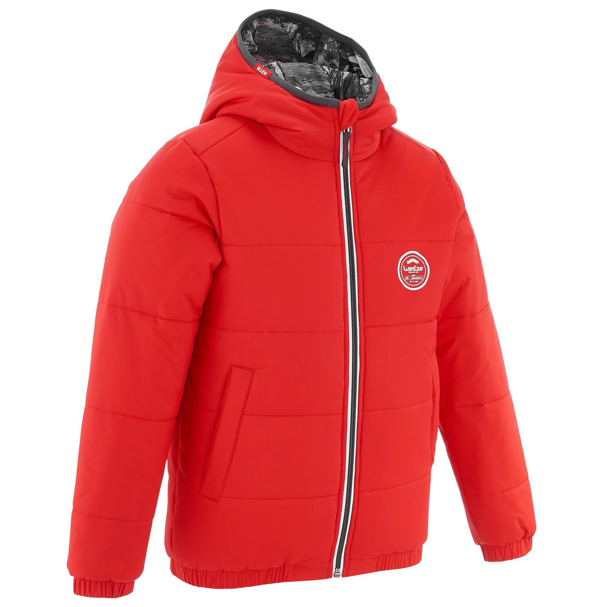Jungen,Kinder Skijacke Warm Reverse Kinder rot | 03608449881289