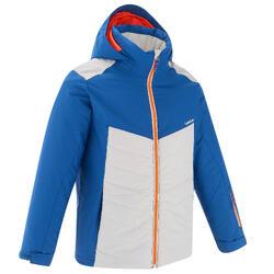 兒童滑雪外套Ski-P Jkt 500 - 藍色