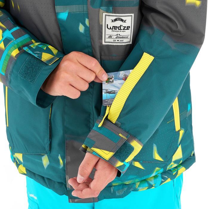 Snowboard- en ski-jas voor jongens SNB JKT 500 donkerpetrol - 1201211