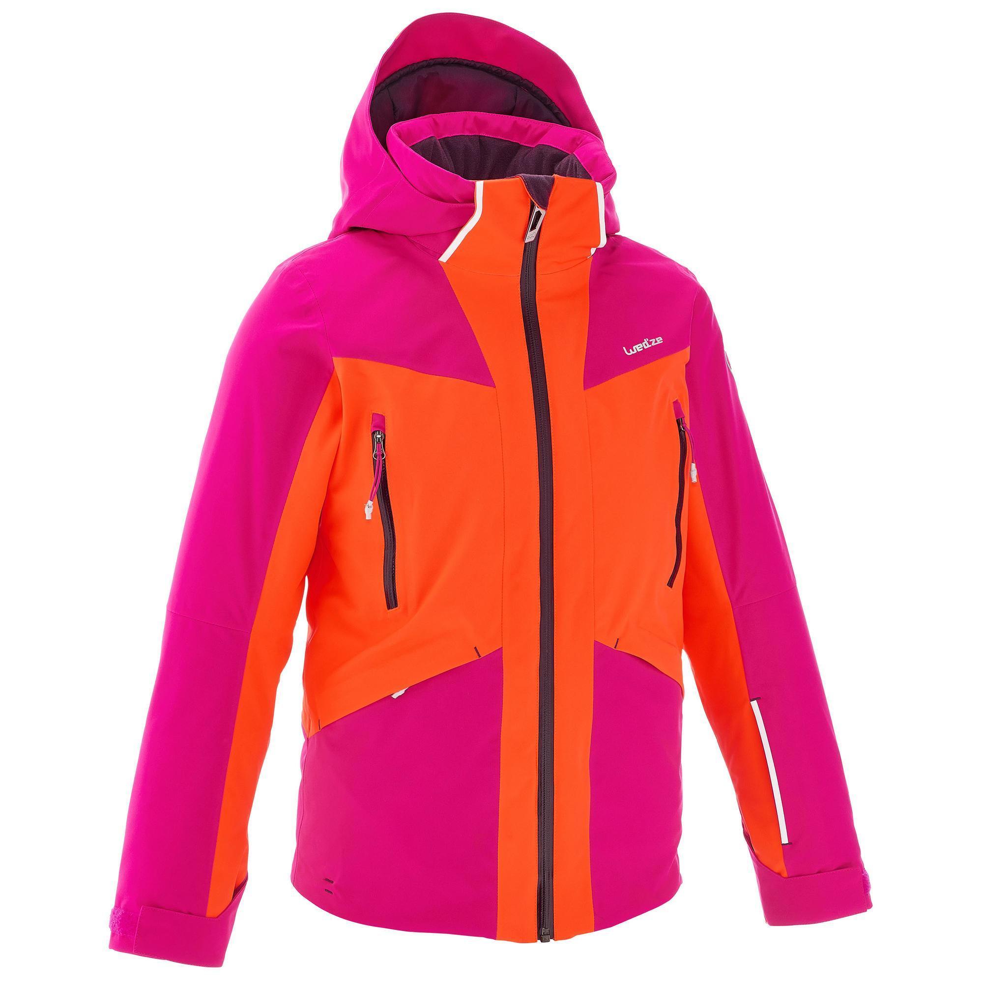 veste ski 700 fille rose orange fluo wedze. Black Bedroom Furniture Sets. Home Design Ideas