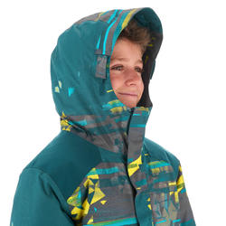 Manteau de planche à neige et de ski SNB 500 garçon bleu pétrole et jaune