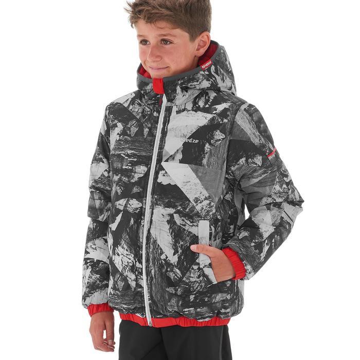 Jongens ski-jas Warm Reverse rood