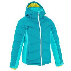 兒童保暖鋪棉外套Ski-P 500 - 藍綠色