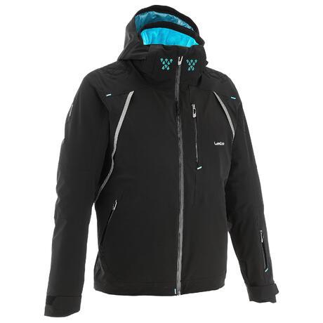 slide 900 men 39 s ski jacket black wedze. Black Bedroom Furniture Sets. Home Design Ideas