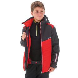 Skijacke 300 Kinder schwarz/rot