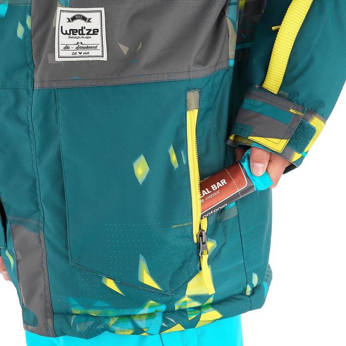 Snowboard- en ski-jas voor jongens SNB JKT 500 donkerpetrol - 1201361
