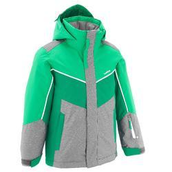 Ski-jas 500 jongens groen/gr.