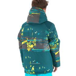 Snowboardjacke/Skijacke SNB 500 Kinder Jungen petrolblau/gelb