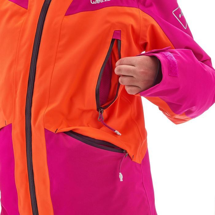 VESTE SKI 700 FILLE ROSE ORANGE FLUO - 1201385