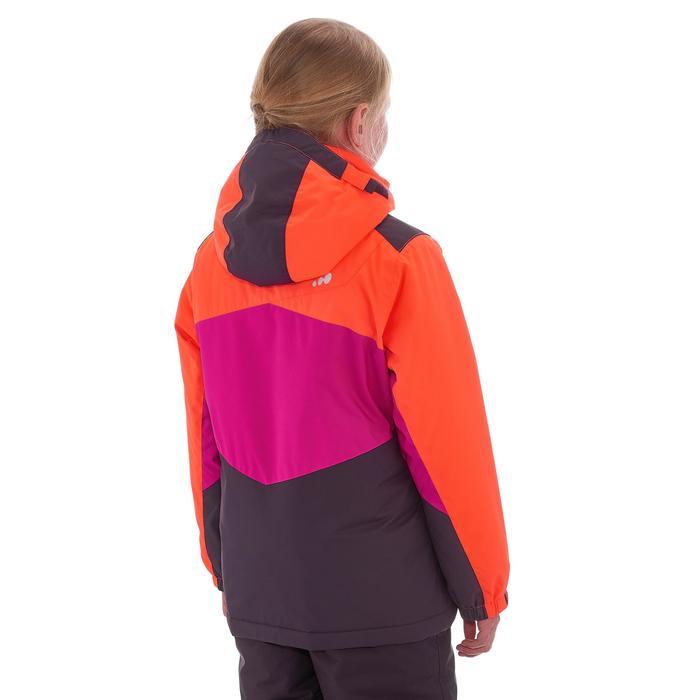 Meisjes ski-jas 500 roze/oranje/paars