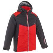 Rdeča smučarska jakna 500 za otroke