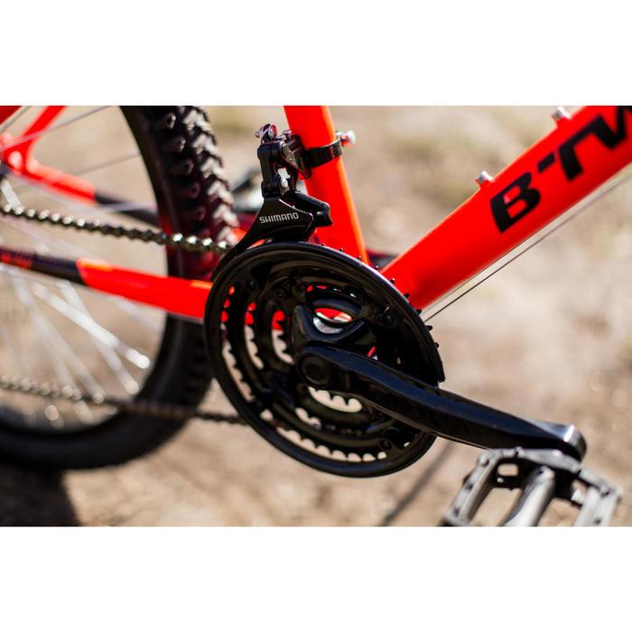 Mountainbike Rockrider 500 24 inch voor kinderen van 8 -12 jaar fluo-oranje