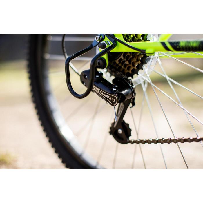 Mountainbike Rockrider 500 24 inch voor kinderen van 8 -12 jaar fluogeel