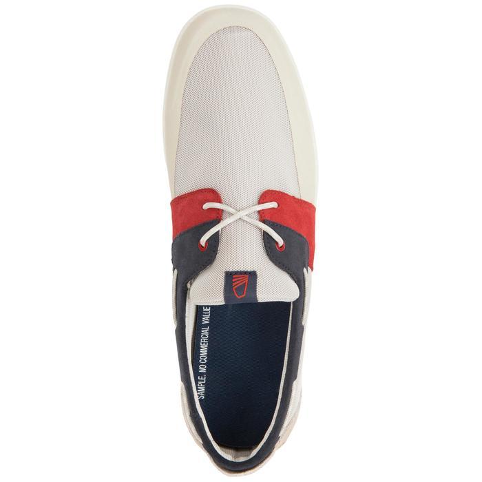 100 男士航海帆船鞋 淺米色/ 藍色 / 紅色