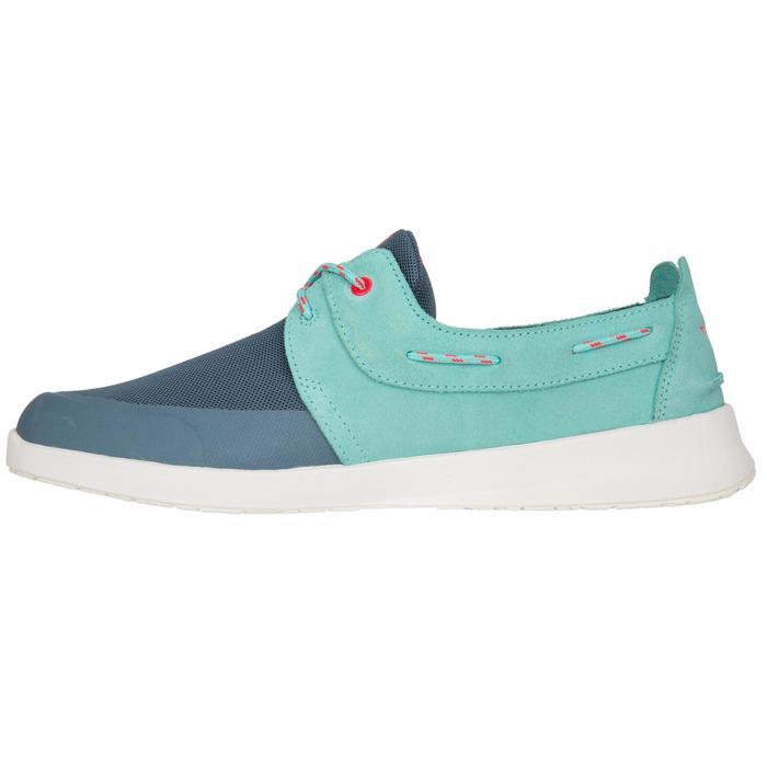 Chaussures bateau femme Cruise 100 vert turquoise / bleu foncé