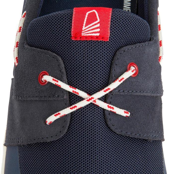 男士航海皮革帆船鞋 深藍色100