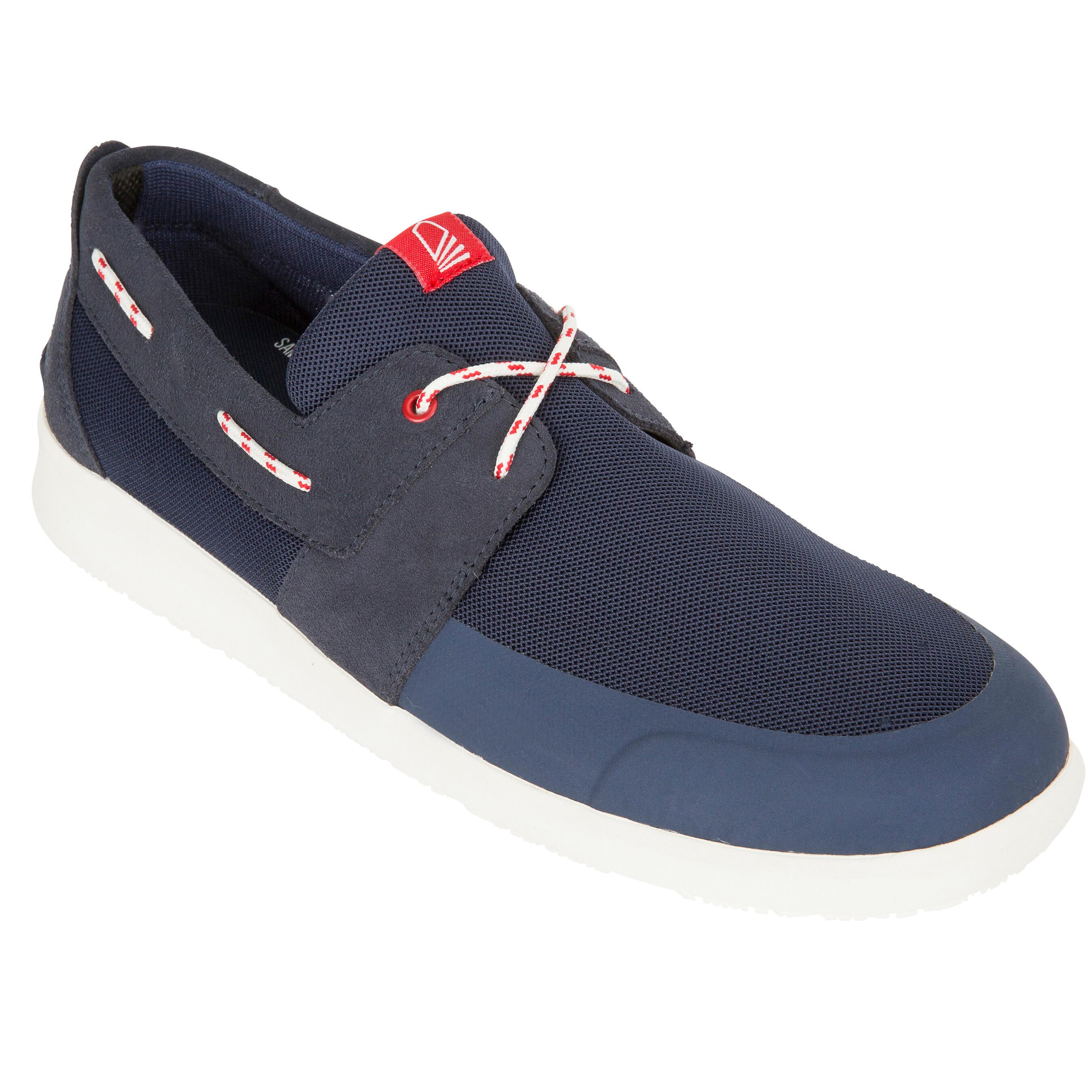 Chaussures bateau homme VOILE 100 bleu foncé