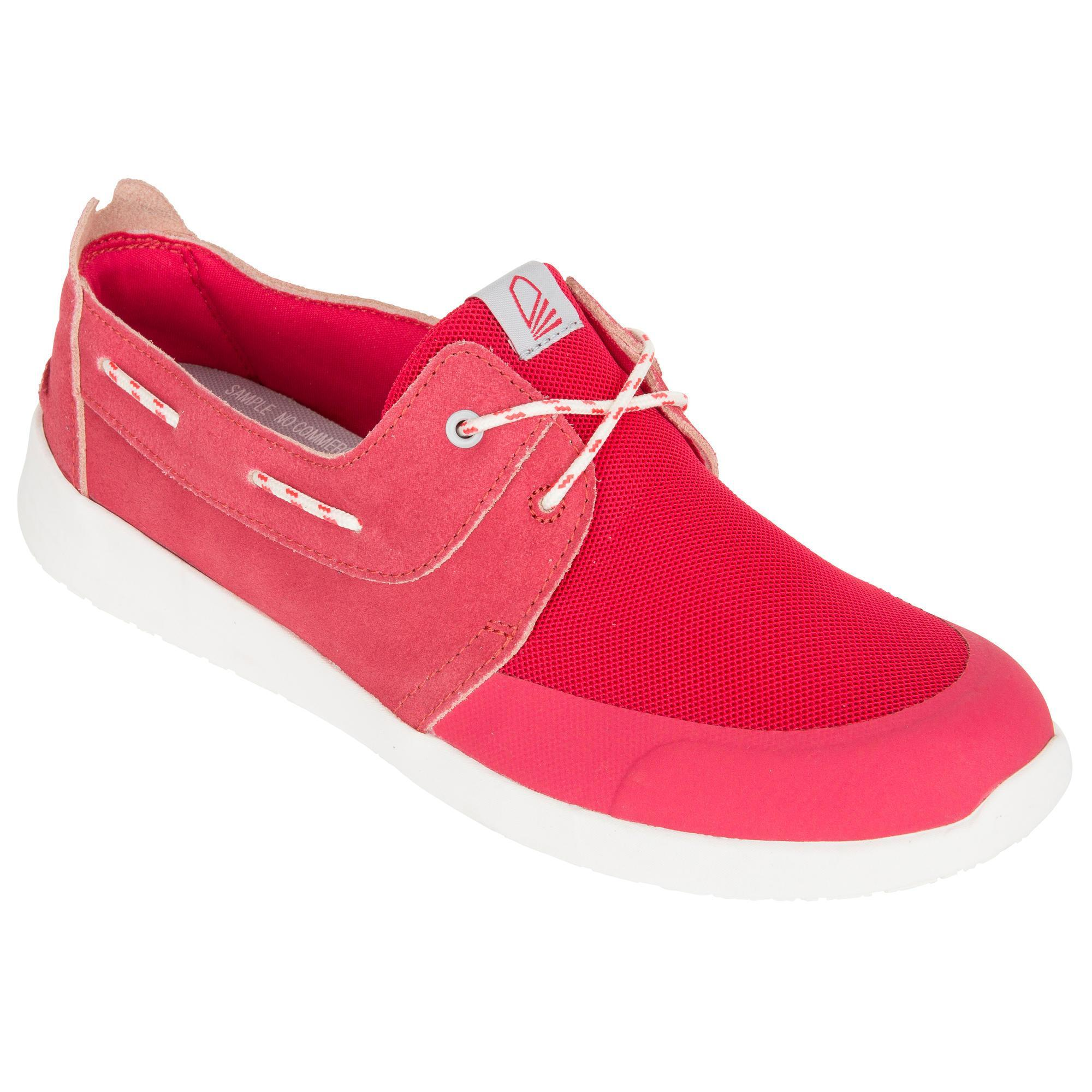 Chaussures bateau femme Cruise 100 rose - Tribord