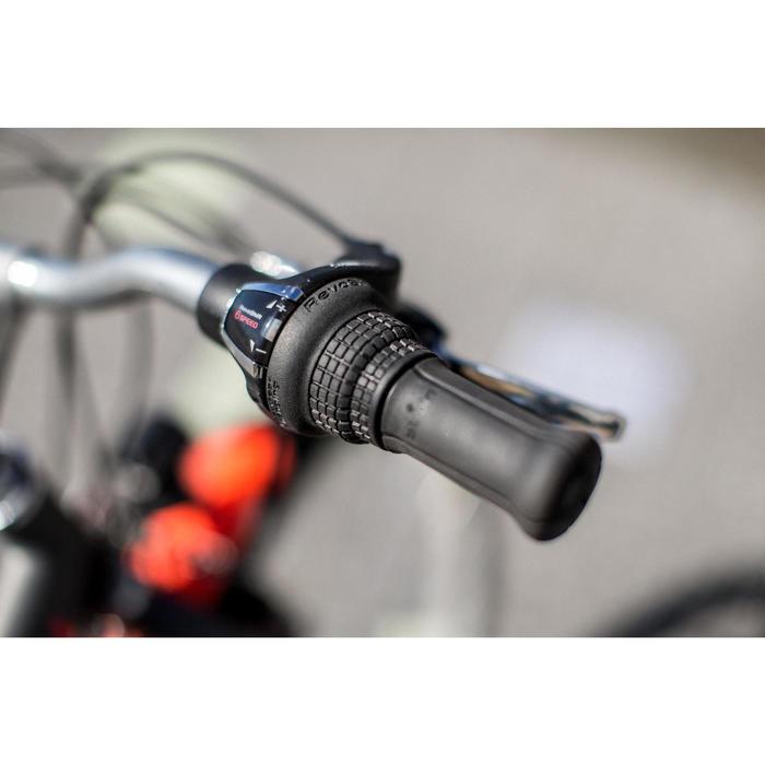 City Bike Kinderfahrrad 24 Zoll Poply 540 dunkelgrau/roas