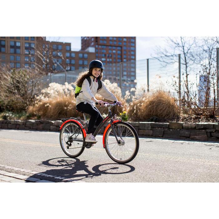 "Kinderfahrrad City Bike 24"" Poply 540 grau/orange"