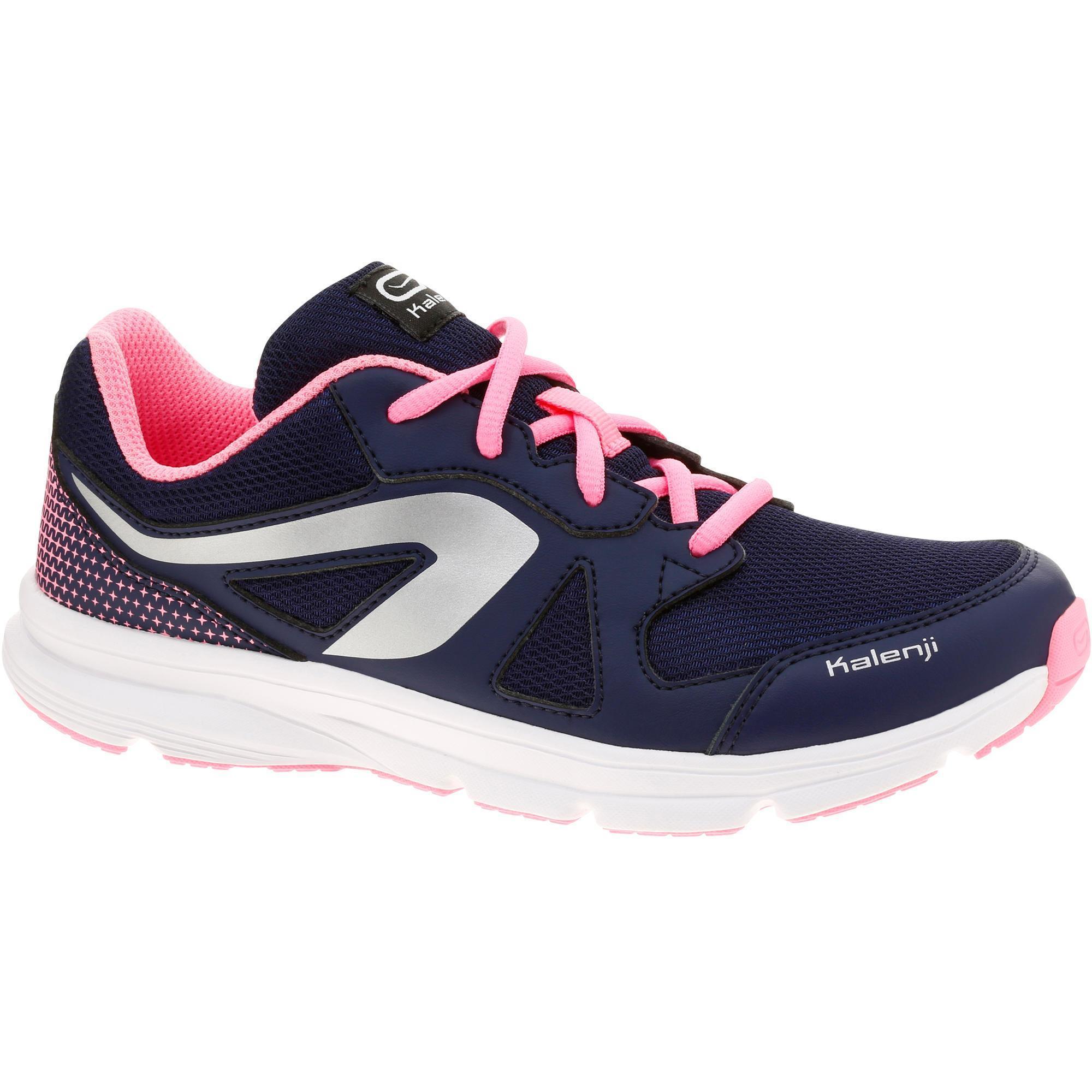 55958d5450c Kalenji Loopschoenen met veters Ekiden Active voor kinderen  marineblauw/roze 2309313 Hardlopen Kinderen Hardlopen