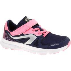 Loopschoenen kinderen met klittenband Ekiden Active marineblauw roze
