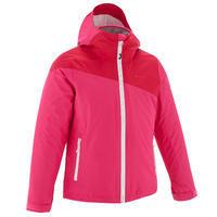 Girls' pink Hike 900 3-in-1 warm waterproof hiking jacket