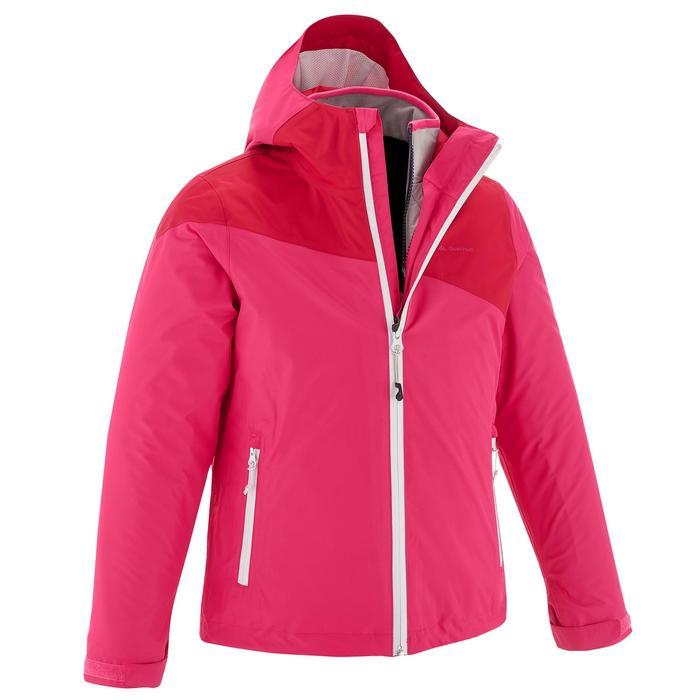 Veste chaude imperméable de randonnée Fille Hike 900 3en1 - 1201630