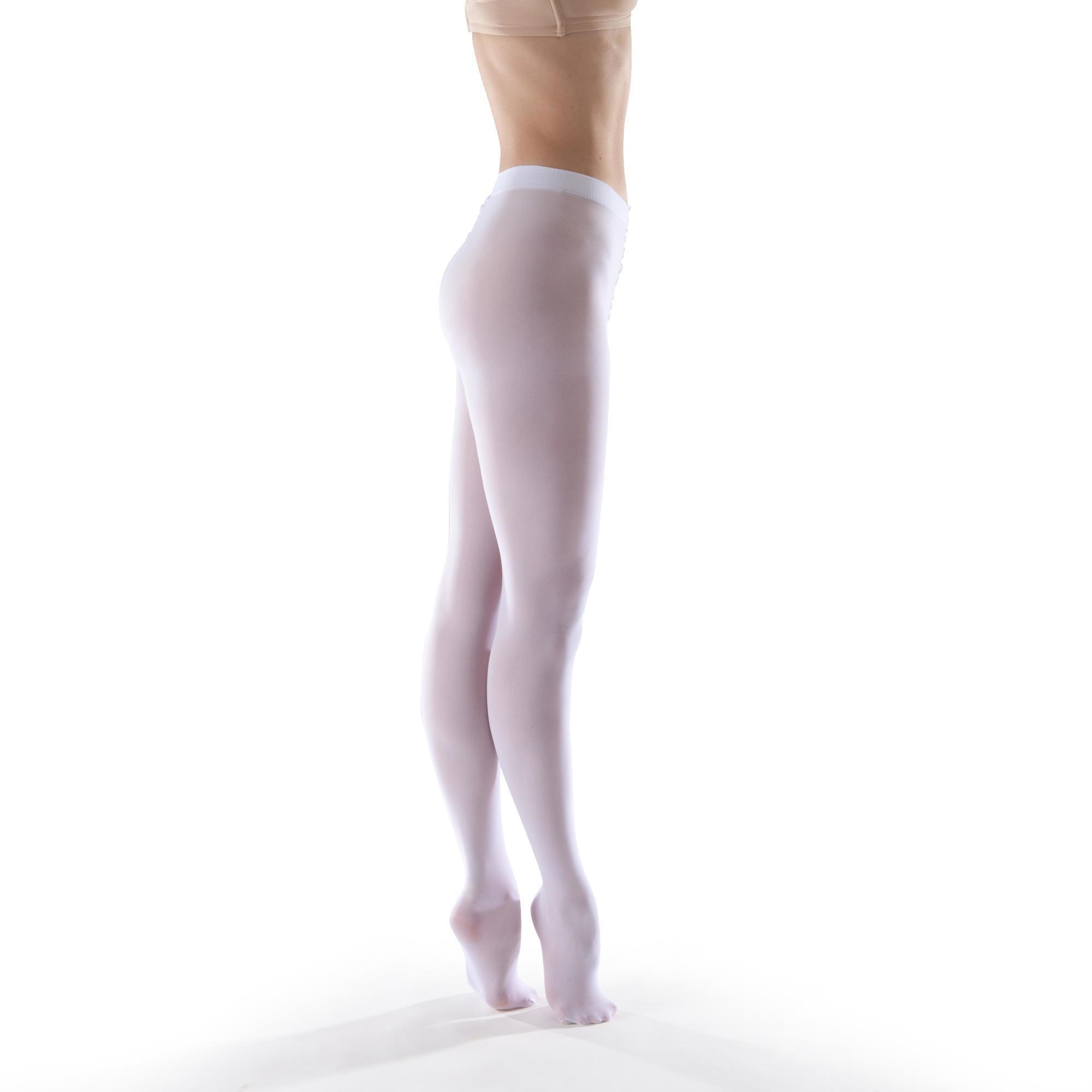 afb0045121ed4 Girls' Ballet Tights - White | Domyos by Decathlon