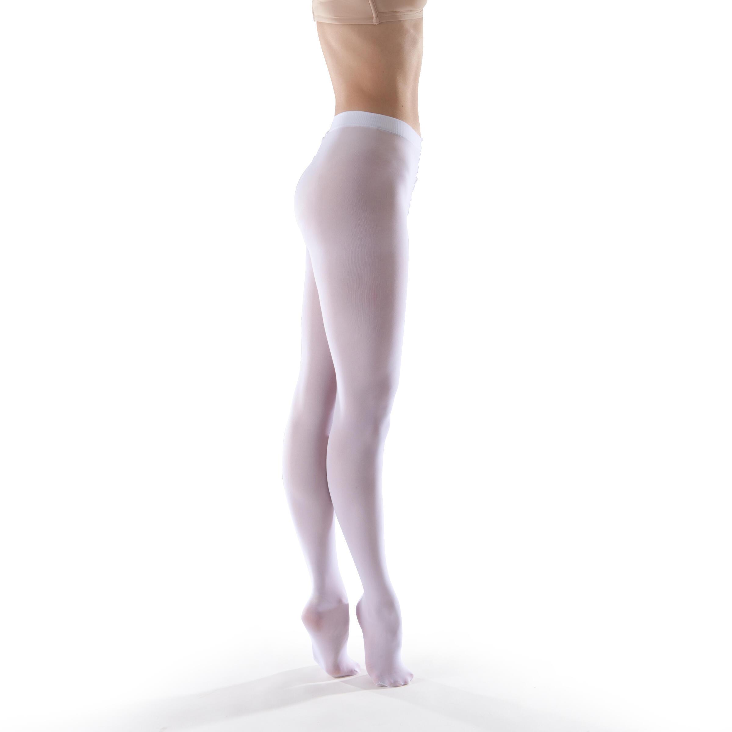 Domyos Balletmaillot voor meisjes wit