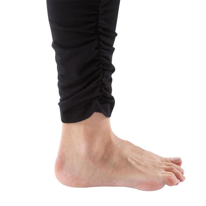 Legging yoga femme coton issu de l'agriculture biologique noir / gris chiné - 1201756