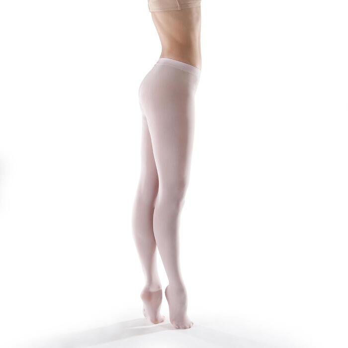 Medias Ballet Domyos Mujer Con Pie Rosa Pastel