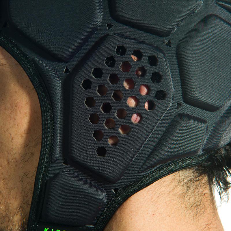 R500 Rugby Scrum Cap - Dark Grey/Green