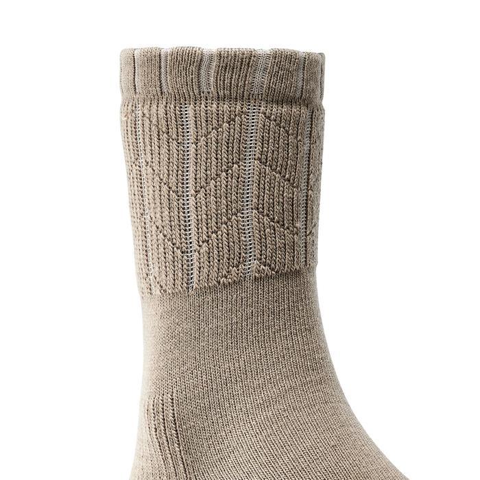 Chaussettes de randonnée neige adulte SH100 chaudes Cafe - 1201825