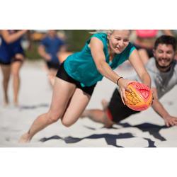 Balón de rugby Beach R100 TIKI rojo coral