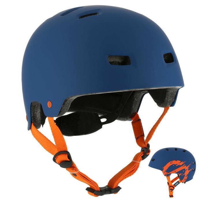 MF 7 Skate Skateboard Scooter Bike Helmet - Blue/Orange - 12019