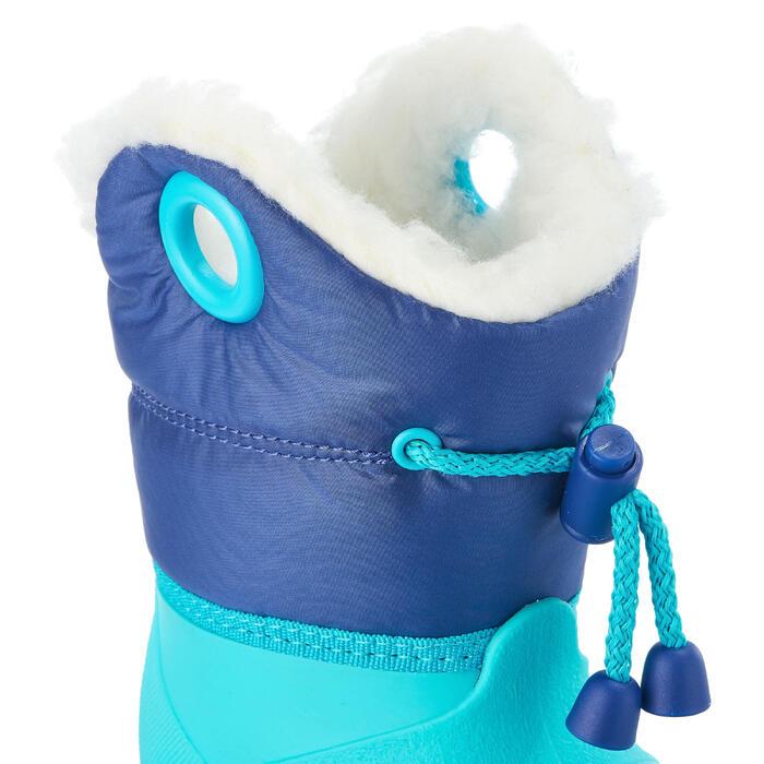 嬰幼兒保暖滑雪靴藍綠色