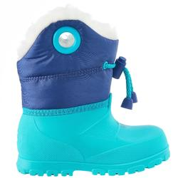 Warm turquoise baby snow boots