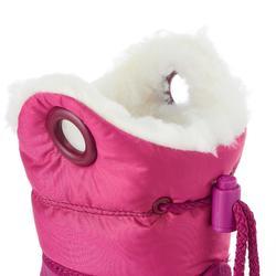 Sneeuwlaarzen voor sleeën peuters Warm roze