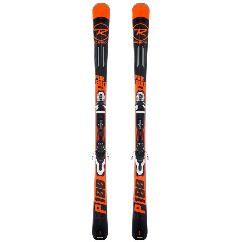 MEN'S SKIS OR POLES BEG. SKIERS - SKIS PURSUIT 100 RED ROSSIGNOL