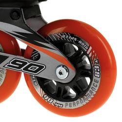 Fitness skates Primo LX 90 voor heren zwart/oranje - 12022