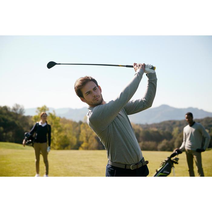 Golf Poloshirt Langarm Herren grau meliert